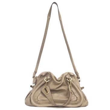 Chloe Pebbled Leather Medium Paraty Bag