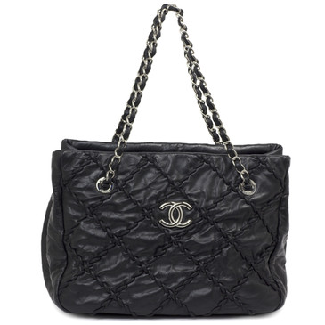 Chanel Black Calfskin Ultra Stitch Tote