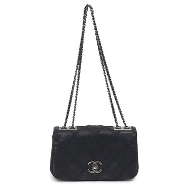 Chanel Embroidery Quilted Iridescent Calfskin Flap Shoulder Bag