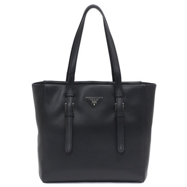 Prada Black Smooth Leather City Sport Shopper Tote