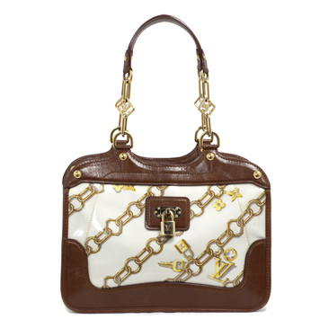 Louis Vuitton Limited Edition White Monogram Charms Cabas Tote