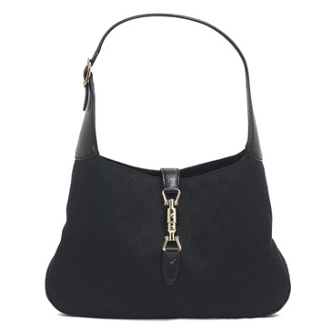 Gucci Black Monogram Canvas Jackie Hobo
