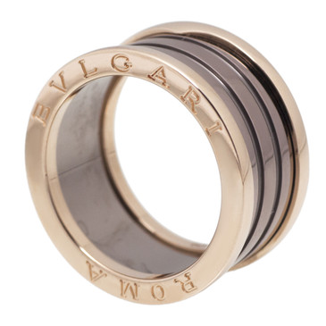 Bvlgari Bulgari B.zero1 Roma 18kt Pink Gold & Bronze Ceramic 4 Band Ring