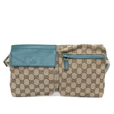 Gucci Monogram Canvas Belt    Bag