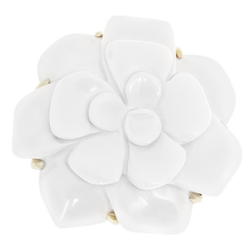 Chanel 18k Yellow Gold Camellia Brooch