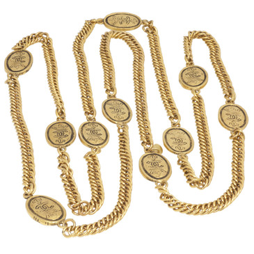 Chanel Crown CC Medallion Necklace