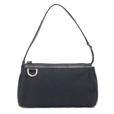 Gucci Black Monogram Canvas Abbey Pochette