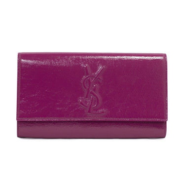 yves saint laurent pink monogram envelope clutch