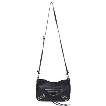 Balenciaga Black Goatskin Metallic Edge Hip Bag