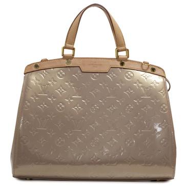 Louis Vuitton Beige Poudre Vernis Brea GM