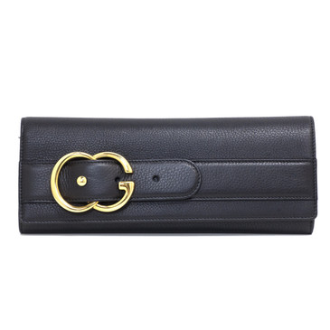 Gucci Black Leather Broadway Clutch