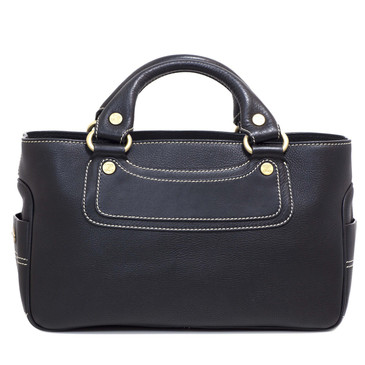 Celine Black Leather Boogie Tote