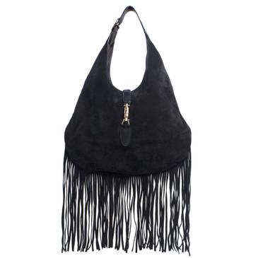Gucci Nouveau Suede Fringe Hobo Bag