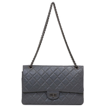 Chanel Grey Aged Calfskin Reissue Double Flap 226