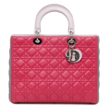Dior Cannage Quilted Lambskin Large Lady Dior Bag
