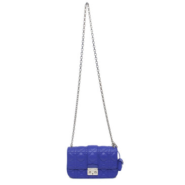 Christian Dior Blue Lambskin Small Miss Dior Bag