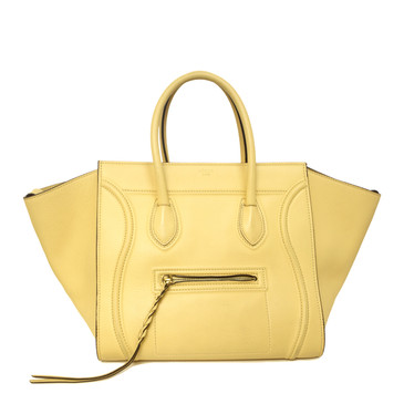 Celine Yellow Calfskin Medium Phantom