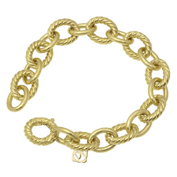 David Yurman 18K Oval Large Link Bracelet