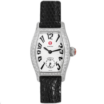 Michele Stainless Steel Diamond Coquette Watch