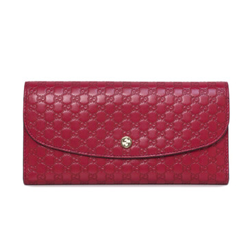 Gucci Red Guccissima Leather Continental Wallet