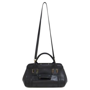 Chloe Black Leather Alice Satchel  Bag