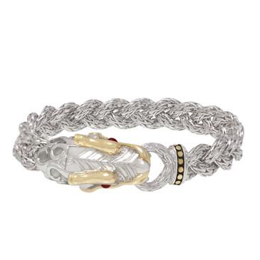 John hardy Sterling Silver, 18K Gold & Ruby Naga Dragon Bracelet