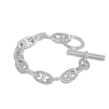 Hermes Sterling Silver Chaine d'Ancre Extra Large Bracelet