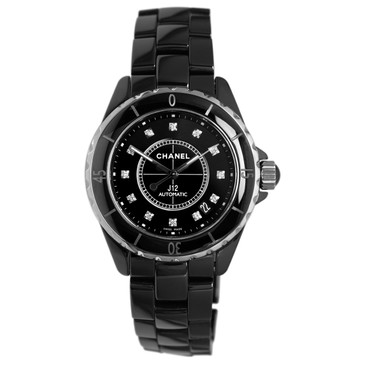 Chanel J12 Black Ceramic & Diamond Watch