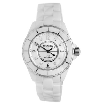 Chanel J12 White Ceramic & Diamond Watch