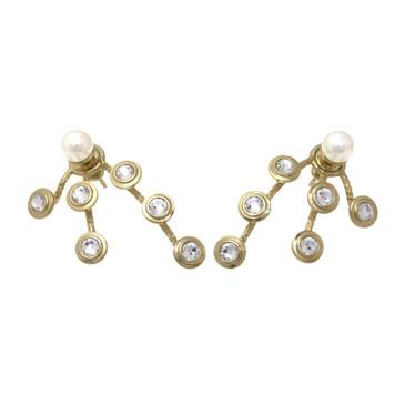 Dior Mise En Dior Pearl & Crystal Earrings
