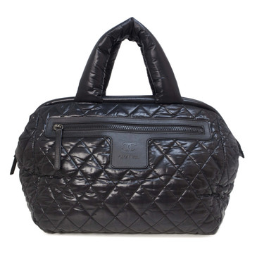 Chanel Black Nylon Cocoon Frame Tote