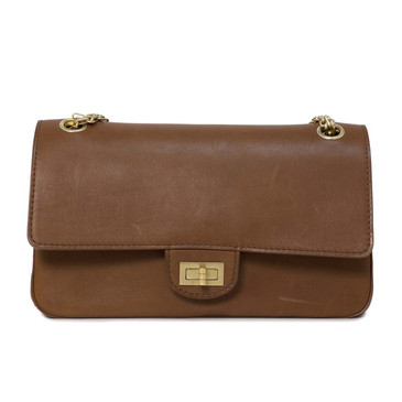 Chanel Brown Smooth Leather 2.55 Nude Bag