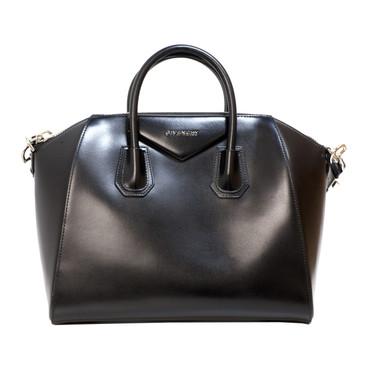 Givenchy Black Smooth Calfskin Medium Antigona Bag