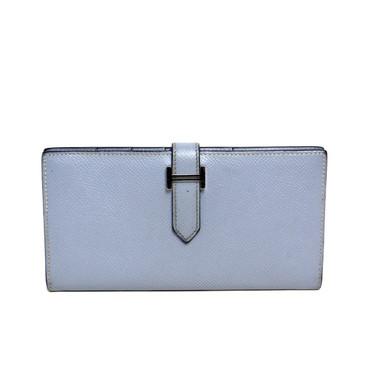 Hermes Blue Epsom Bearn Gusset Wallet