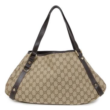 Gucci Monogram Canvas Abbey Shoulder Bag