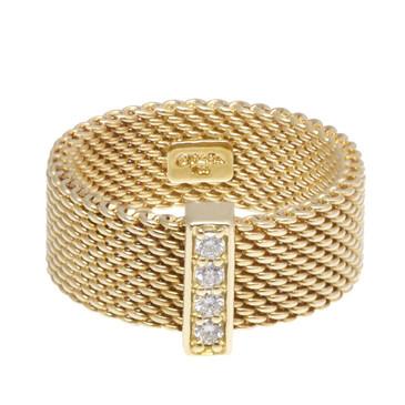 Tiffany & Co. 18K Yellow Gold & Diamond Somerset Ring