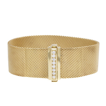 Tiffany & Co. 18K Yellow Gold & Diamond Somerset Bracelet