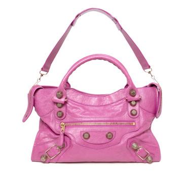 Balenciaga Pink Lambskin Giant 21 City Bag