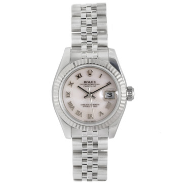 Rolex Rose Mother of Pearl Roman Dial Ladies Datejust 179174