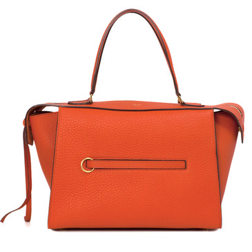 Celine Orange Bullhide Calfskin Small Ring Bag