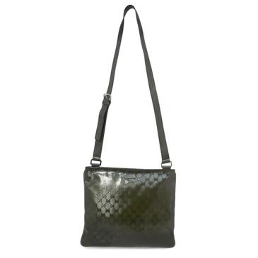 Gucci Khaki Imprime Coated Monogram Canvas Crossbody Bag