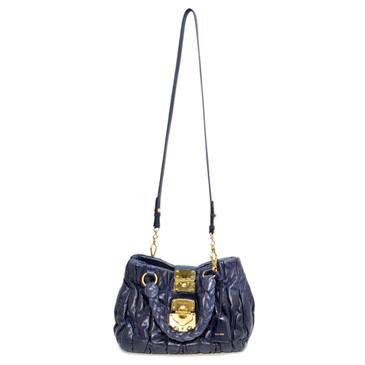 Miu Miu Matelasse Braided Handle Convertible Bag