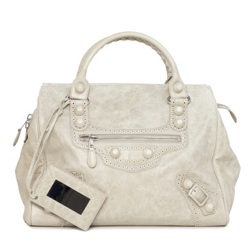 Balenciaga Beige Lambskin Covered Midday Bag