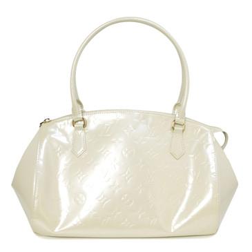 Louis Vuitton Blanc Corail Vernis Sherwood GM