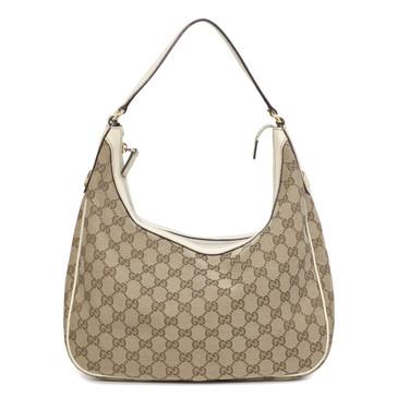 Gucci Monogram Canvas Hobo Bag