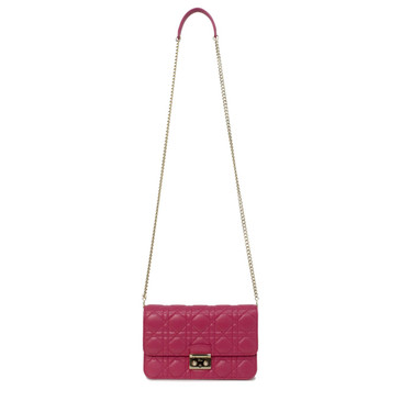 Dior Pink Lambskin Miss Dior Promenade Pouch