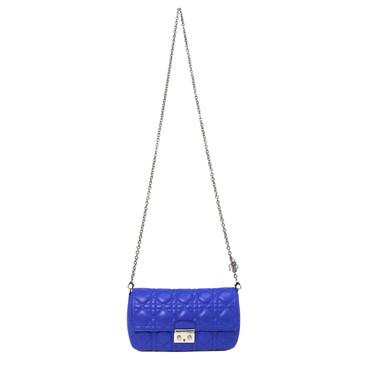 Dior Blue Lambskin Miss Dior Promenade Pouch