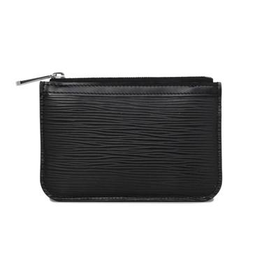 Louis Vuitton Black Epi Key   Pouch