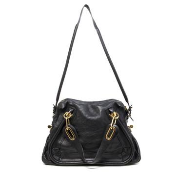 Chloe Black Pebbled Leather Medium Paraty