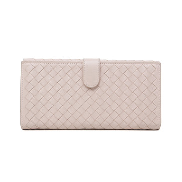Bottega Veneta Pink Intrecciato Nappa Continental Wallet
